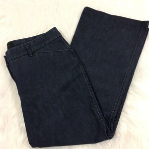 Express Editor Dark Wash Cropped Jeans Size 10L